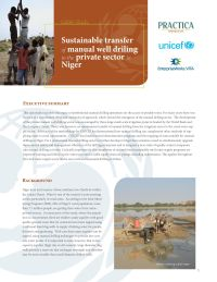 Sustainable Transfer of Manual Well Drilling to the Private Sector in Niger