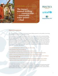The Impact of Manual Drilling for the Construction of Sustainable Water-Points in Chad