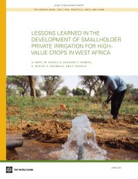 Lessons learned in the development of smallholder private irrigation for high-value crops in West Africa