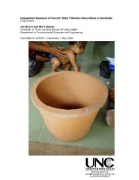 Independent Appraisal of Ceramic Water Filtration Interventions in Cambodia
