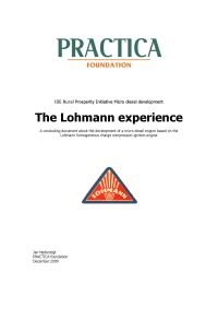 The Lohmann experience
