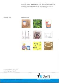 Ceramic silver impregnated pot filters for household drinking water treatment in developing countries