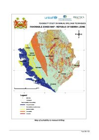 Feasibility Map of Manual Drilling – Sierra Leone