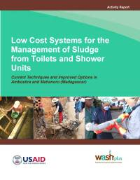 Low cost systems for the management of sludge from toilets and shower units