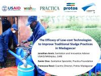 The Efficacy of Low-cost Technologies to Improve Traditional Sludge Practices in Madagascar