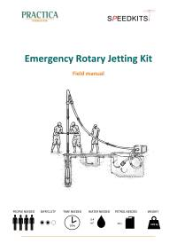 Emergency rotary jetting kit – Field manual